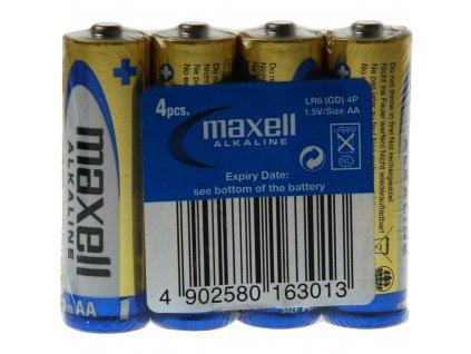 MAXELL LR6 4S AA Alkalická baterie AA (R6), shrink 4 ks