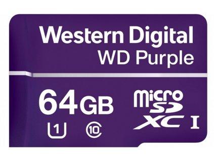 WD Purple micro SDHC 64GB UHS-I Class 10, U1