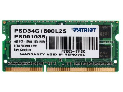 Patriot Signature DDR3 4GB 1600MHz Ultrabook SODIMM