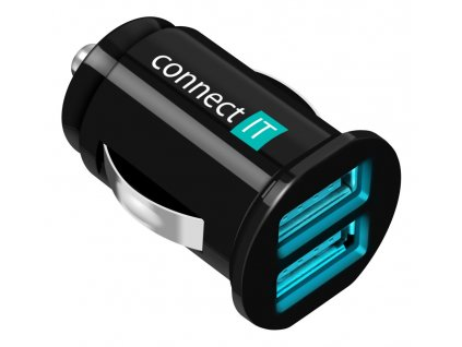 Connect IT InCarz CI-176 USB auto adaptér 2xUSB 2.1A a 1A
