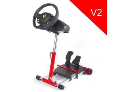 Wheel Stand Pro, stojan na volant a pedály pro Thrustmaster F458 Spider, červený