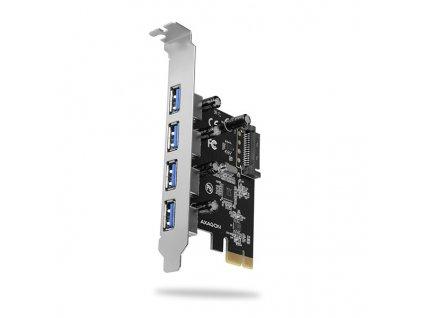 AXAGON PCEU-430VL PCIe řadič 4x externí SuperSpeed USB