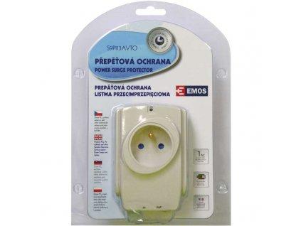 Přepěťová ochrana EMOS 1 zásuvka bílá