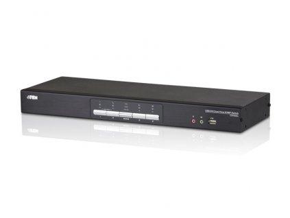 ATEN 4-port DVI DualLink KVMP USB, 2port USB HUB, audio, podpora Quad modu
