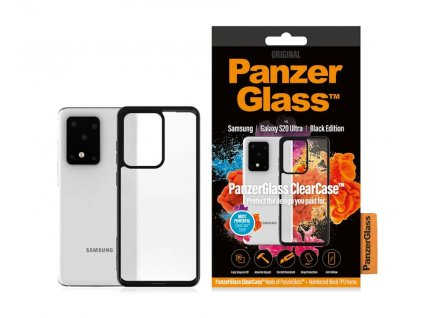 PanzerGlass ClearCase pro Samsung Galaxy S20 Ultra Black edition (0240)