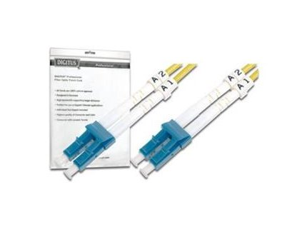 DIGITUS Fiber Optic Patch Cord, LC to LCMultimode 50/125 µ, Duplex Length 1m
