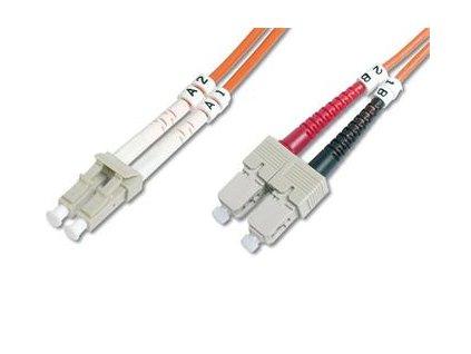 DIGITUS Fiber Optic Patch Cord, LC to SCMultimode 50/125 µ, Duplex Length 1m DK-2532-01