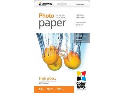 ColorWay fotopapír/ high glossy 180g/m2, A3+/ 20 ks