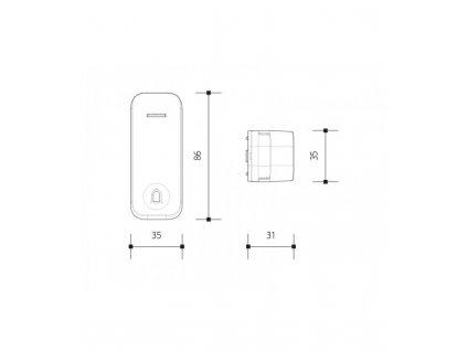 Panlux PIEZO BELL bezdrátové tlačítko