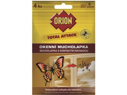 Orion Total Attack okenní mucholapka 4ks
