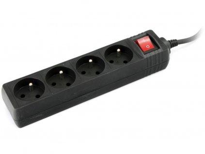 Whitenergy prodlužovačka 4 zásuvky, kabel 1.8m