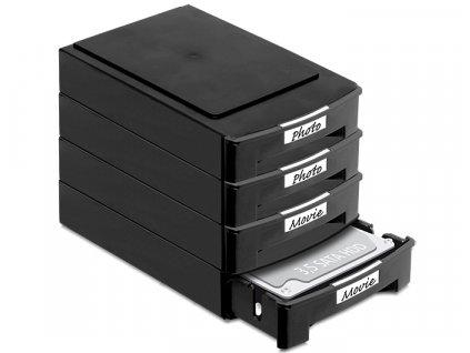 Delock 2 skladovací boxy pro 3.5 HDD (61970)