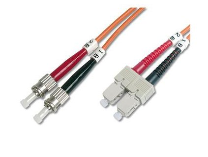 DIGITUS Fiber Optic Patch Cord, ST to SCMultimode 50/125 µ, Duplex Length 1m