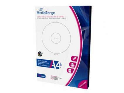 MediaRange CD/DVD/Blu-ray etikety 41mm - 118mm