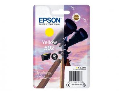 Epson 502 Yellow, žlutá - originální