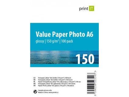 Print IT A6 lesklý 150g/m2 100ks