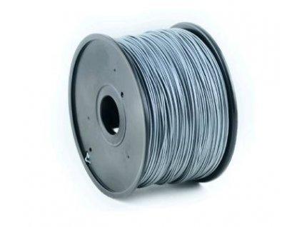 Gembird filament ABS 1.75mm 1kg, stříbrná