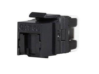 SOLARIX keystone, CAT5E, UTP, RJ45, černý, rychlozařezávací
