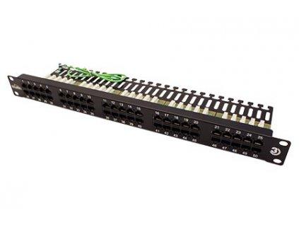 SOLARIX ISDN panel, 25 x RJ45, černý, 1U