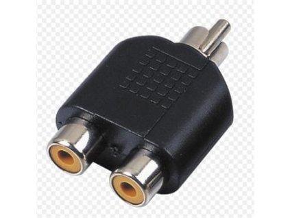 PremiumCord Adaptér 1xcinch - 2x cinch M/F