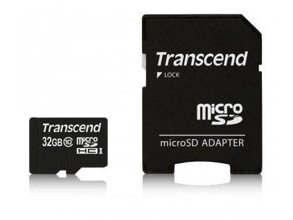 Transcend microSDHC 32GB Class10 (Premium 200x) + adaptér