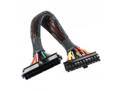 AKASA kabel prodloužení napájení 24Pin(M) to 20+4Pin(F) 30cm