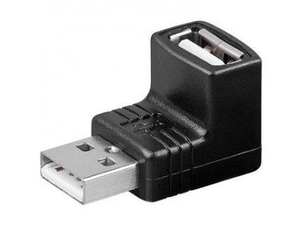 USB redukce A-A, Male/Female 90°