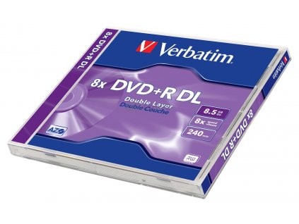 DVD+R VERBATIM 8,5GB 8x DoubleLayer jewel box 1kus