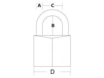 Master Lock Visací zámek z pevného hliníku 9140EURDBLK - 40mm