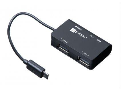 Connect IT CI-198 micro USB OTG čtečka + USB hub