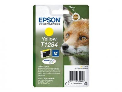 Epson T1284 Yellow 3,5ml pro Stylus S22/SX125/SX130/420W/425W, Stylus Office BX305F - originální
