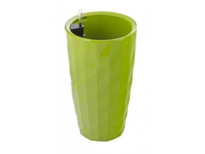 Samozavlažovací květináč G21 Diamant zelený 57 cm