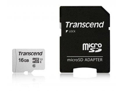 Transcend microSDHC 300S 16GB UHS-I + adaptér
