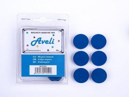 Aveli set magnetů, 4ks, modrá barva