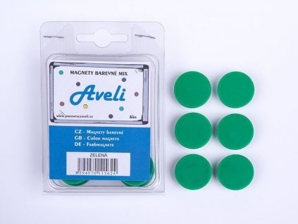 Aveli set magnetů, 4ks, zelená barva