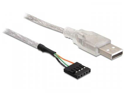 Delock kabel USB 2.0-A samec na pinový konektor (83078)