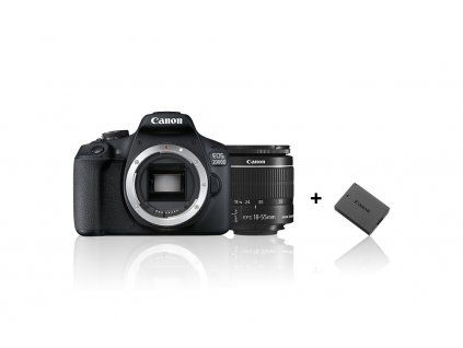 CANON zrcadlovka EOS 2000D + 18-55mm IS II + LP-E10