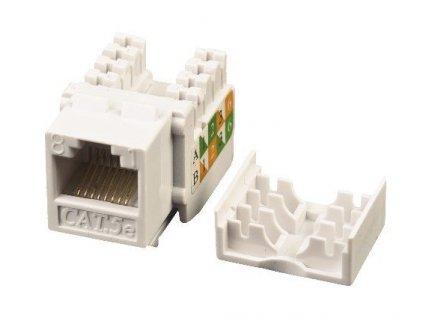 EuroLan samozařezávací keystone UTP Cat.5e, bílý, horní svorkovnice