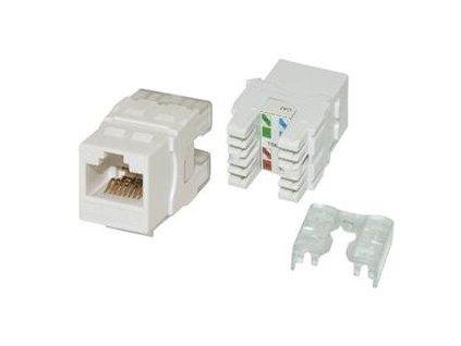 EuroLan samozařezávací keystone UTP Cat.5e, bílý, zadní svorkovnice