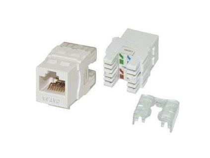EuroLan samozařezávací keystone UTP Cat.6a, bílý, zadní svorkovnice