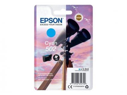 Epson 502 Cyan, azurová - originální