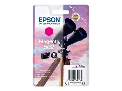 Epson 502 Magenta, purpurová - originální