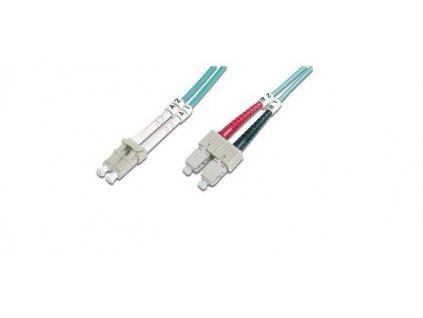 DIGITUS Fiber Optic Patch Cord, LC/SC Multimode 50/125 µ, OM3, Duplex, 2m