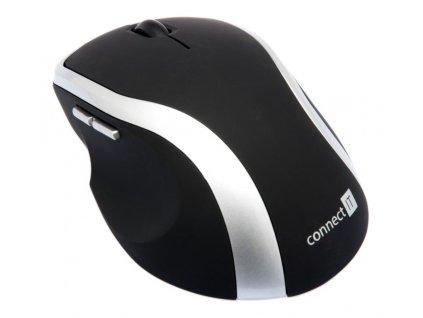 Connect IT CI-261 laserová myš, černo stříbrná