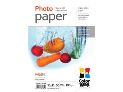 ColorWay fotopapír/ matný 190g/m2, 10x15/ 50 ks