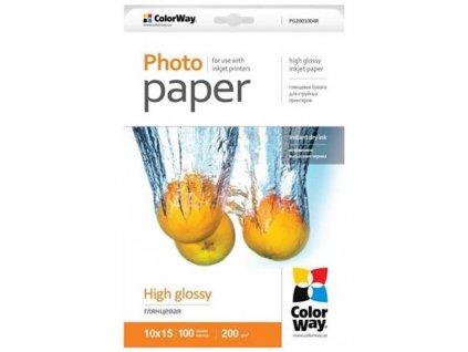 ColorWay fotopapír/ high glossy 200g/m2, 10x15 / 100 ks