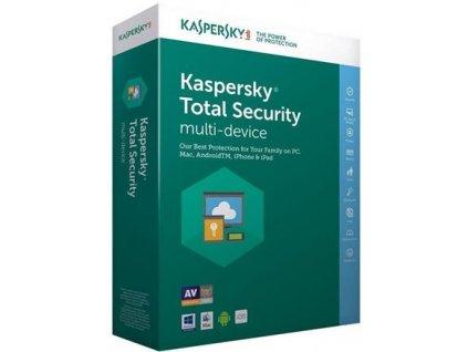 Kaspersky Total Security, 1 zařízení, 2 roky, obnovení licence, elektronicky