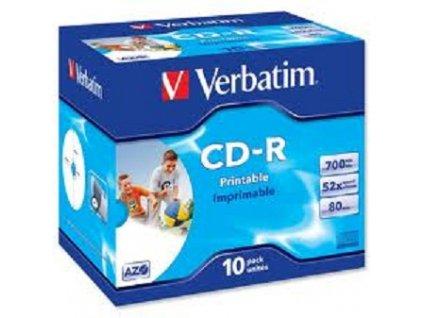 Verbatim CD-R DLP PRINTABLE 700MB/80MIN 52x 10-PACK