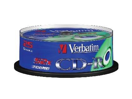 Verbatim CD-R 700MB/80MIN 52x EXTRA PROTECTION 25-SPINDL