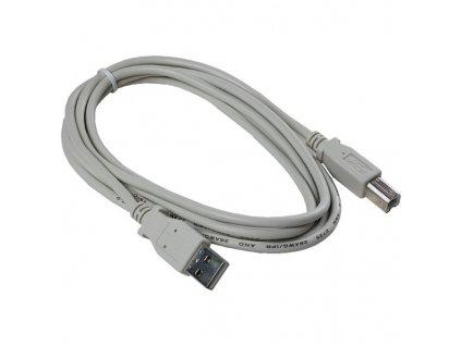 USB kabel typ A-B 1,8m šedý